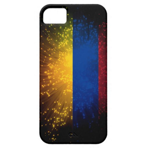 Fuego artificial de la bandera de Colombia iPhone 5 Funda