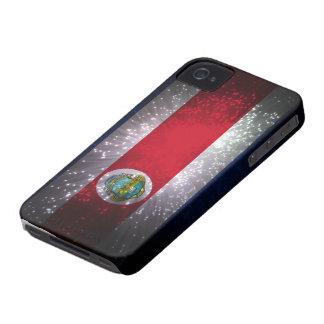 Fuego artificial de la bandera de Costa Rica iPhone 4 Case-Mate Protectores