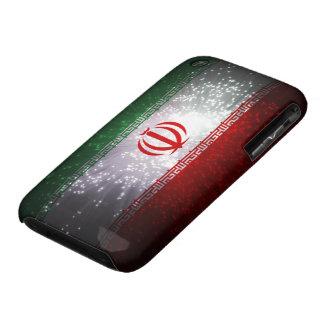Fuego artificial de la bandera de Irán Case-Mate iPhone 3 Funda