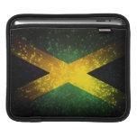 Fuego artificial de la bandera de Jamaica Mangas De iPad