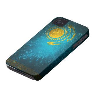 Fuego artificial de la bandera de Kazajistán iPhone 4 Carcasa