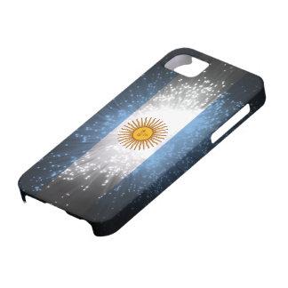 Fuego artificial de la bandera de la Argentina iPhone 5 Carcasa
