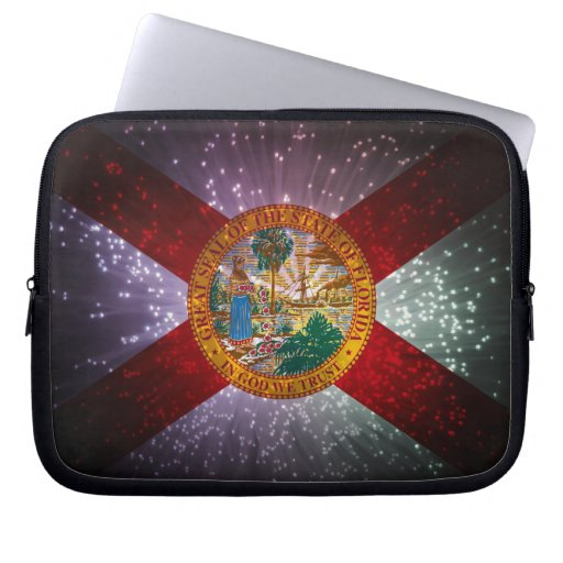 Fuego artificial de la bandera de la Florida Mangas Computadora