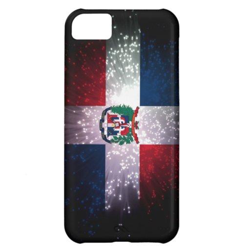 Fuego artificial de la bandera de la República Dom Funda Para iPhone 5C