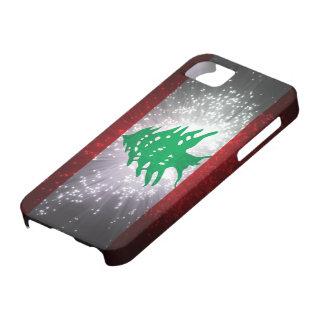 Fuego artificial de la bandera de Líbano iPhone 5 Case-Mate Funda