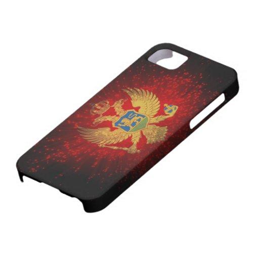 Fuego artificial de la bandera de Montenegro iPhone 5 Carcasa
