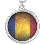 Fuego artificial de la bandera de Rumania Joyerias Personalizadas