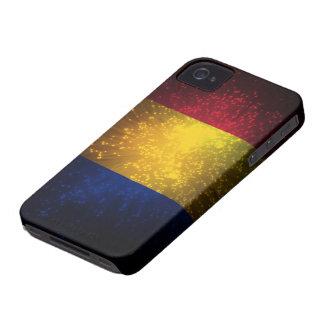 Fuego artificial de la bandera de Rumania iPhone 4 Case-Mate Carcasas