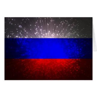 Fuego artificial de la bandera de Rusia Tarjeta Pequeña