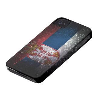 Fuego artificial de la bandera de Serbia Case-Mate iPhone 4 Fundas