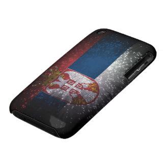 Fuego artificial de la bandera de Serbia iPhone 3 Cárcasa