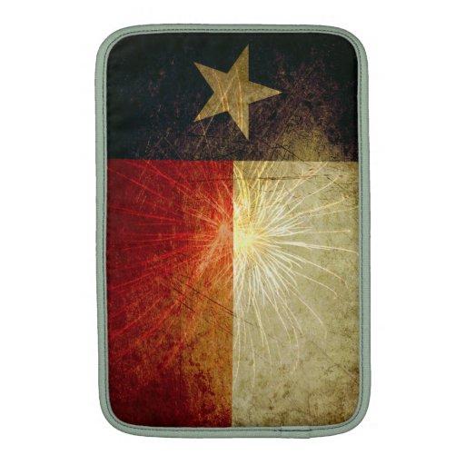 Fuego artificial de la bandera de Tejas Fundas Macbook Air