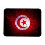 Fuego artificial de la bandera de Túnez Imán De Vinilo