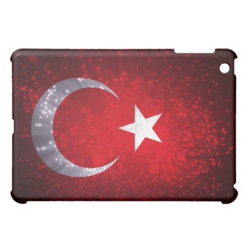 Fuego artificial de la bandera de Turquía