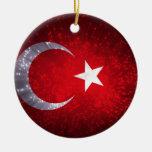 Fuego artificial de la bandera de Turquía Ornamento Para Reyes Magos