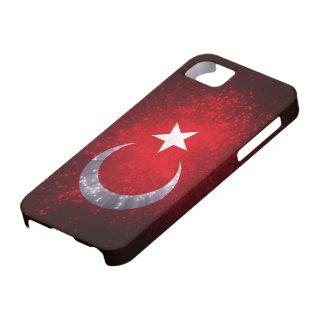 Fuego artificial de la bandera de Turquía Funda Para iPhone 5 Barely There