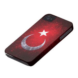 Fuego artificial de la bandera de Turquía iPhone 4 Case-Mate Carcasas