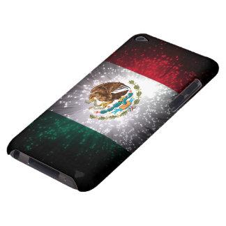 Fuego artificial de la bandera mexicana barely there iPod carcasas