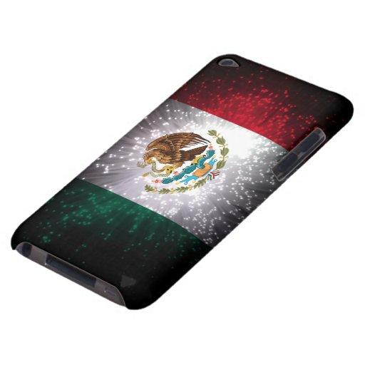 Fuego artificial de la bandera mexicana iPod touch protector