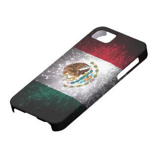 Fuego artificial de la bandera mexicana funda para iPhone 5 barely there