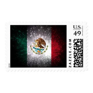 Fuego artificial de la bandera mexicana envio