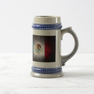 Fuego artificial de la bandera mexicana taza de café