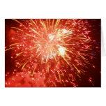 Fuego artificial felicitación
