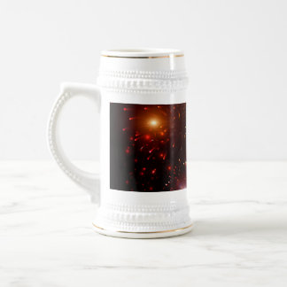 Fuego artificial hermoso jarra de cerveza