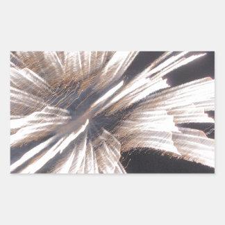 Fuego artificial pegatina rectangular