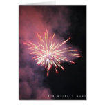 Fuego artificial tarjeta