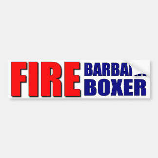 Fuego Barbara Boxer Pegatina Para Auto