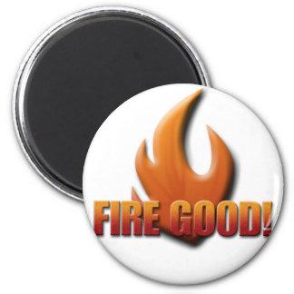 Fuego bueno imán redondo 5 cm