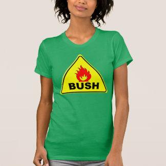 FUEGO BUSH de la precaución Camiseta