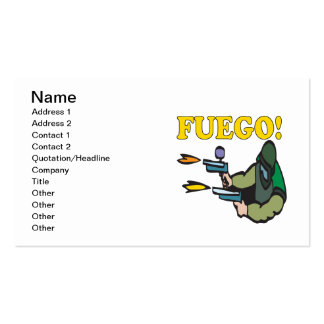 Fuego Business Card Template