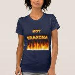 Fuego caliente de la abuela y corazón de mármol t shirt