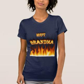 Fuego caliente de la abuela y corazón de mármol playera