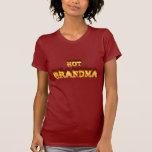Fuego caliente de la abuela y corazón de mármol ro camiseta