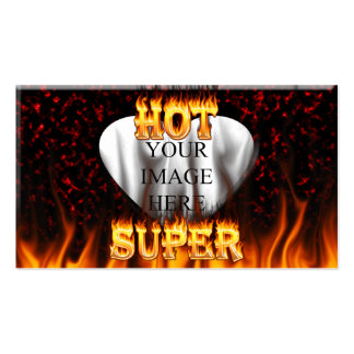 Fuego caliente estupendo y corazón de mármol rojo tarjetas de visita