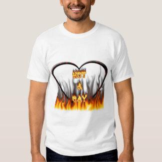 Fuego caliente y gay y mármol del rojo de las poleras