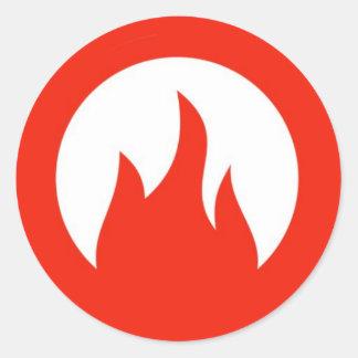 fuego classic round sticker