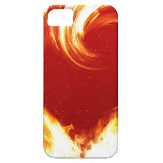 fuego-corazón iPhone 5 carcasas