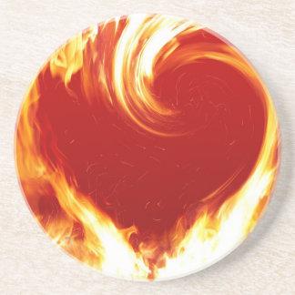 fuego-corazón posavasos manualidades