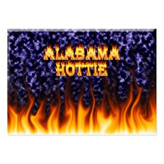 Fuego de Alabama Hottie y mármol del azul de las Tarjetas De Visita Grandes
