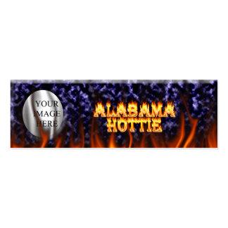 Fuego de Alabama Hottie y mármol del azul de las Tarjetas De Visita Mini
