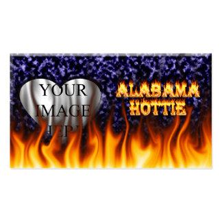 Fuego de Alabama Hottie y mármol del azul de las Tarjetas De Visita