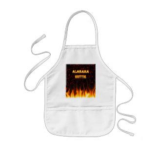 Fuego de Alabama Hottie y mármol del rojo de las l Delantal