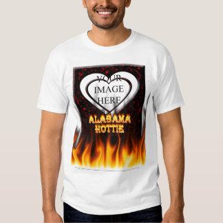 Fuego de Alabama Hottie y mármol del rojo de las Polera