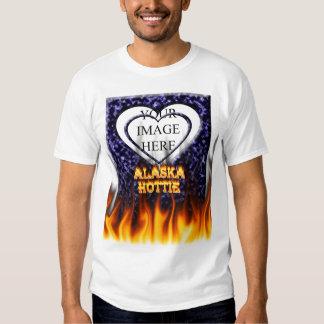 Fuego de Alaska Hottie y mármol del azul de las Camisas