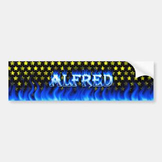 Fuego de Alfred y diseño azules de la pegatina par Pegatina Para Auto