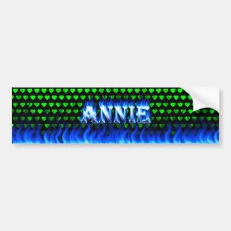 Fuego de Annie y diseño azules de la pegatina para Pegatina De Parachoque